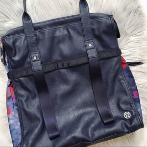 Lululemon Navy/Regal Plum Multi Large Tote Bag
